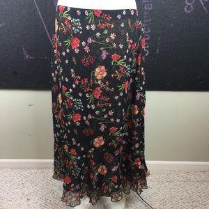 Gorgeous Dark Fall Floral Skirt REVERSIBLE!